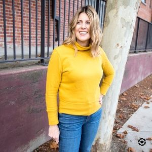Madewell mock neck sweatshirt